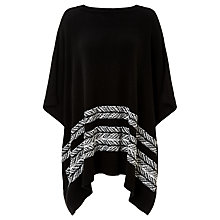 Buy Collection WEEKEND by John Lewis Boat Neck Poncho, Black/Ivory Online at johnlewis.com