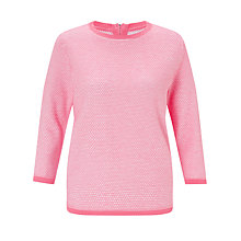 Buy Collection WEEKEND by John Lewis Stripe Zip Back Jumper, Blush Pink Online at johnlewis.com