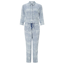 Buy Collection WEEKEND by John Lewis Sabrina Tile Print Jumpsuit, Blue/Ivory Online at johnlewis.com