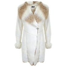 Buy Miss Selfridge Faux Fur Shearling Coat Online at johnlewis.com