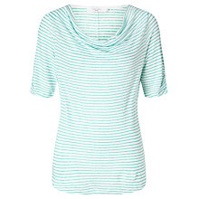 Buy John Lewis Linen Jersey Cowl Neck Stripe Top Online at johnlewis.com