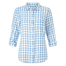 Buy John Lewis Spring Check Shirt, Blue/White Online at johnlewis.com