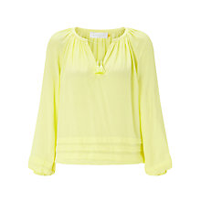 Buy Collection WEEKEND by John Lewis Pleat Detail Tunic Blouse, Lemon Online at johnlewis.com