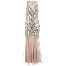 Buy Miss Selfridge Boudica Maxi Dress, Nude Online at johnlewis.com