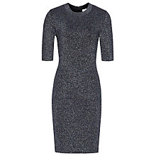 Buy Reiss Lina Sparkle Dress, Pewter Online at johnlewis.com