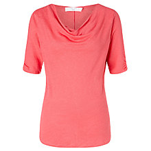 Buy John Lewis Linen Jersey Cowl Neck Top Online at johnlewis.com