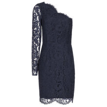 Buy Reiss Leticia Asymmetric Lace Dress, Night Navy Online at johnlewis.com