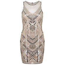 Buy Miss Selfridge Boudica Bodycon Dress, Nude Online at johnlewis.com