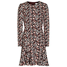 Buy Reiss Aria Printed Long Sleeve Dress, Ambrosia Online at johnlewis.com
