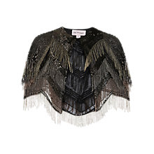 Buy Miss Selfridge Fringe Cape Jacket, Multi Online at johnlewis.com