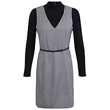 Buy Miss Selfridge Dogtooth Rollneck Dress, Black Online at johnlewis.com