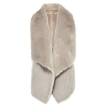 Buy Coast Helsinki Faux Fur Gilet, Grey Online at johnlewis.com