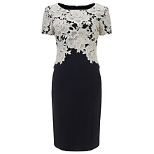 Buy Phase Eight Lucianna Lace Dress, Black/Cream Online at johnlewis.com
