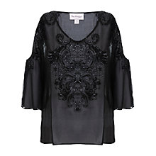 Buy Miss Selfridge Cold Shoulder Tunic, Black Online at johnlewis.com