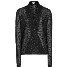 Buy Reiss Cove Wrap Shirt, Black Online at johnlewis.com