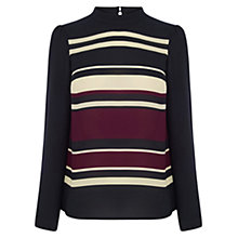 Buy Oasis Stripe High Neck Top, Multi Online at johnlewis.com