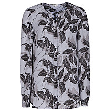 Buy Reiss Martina Printed Shirt, Multi Grey/Black Online at johnlewis.com
