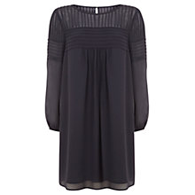 Buy Mint Velvet Pintuck Swing Dress, Grey Online at johnlewis.com