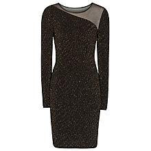 Buy Reiss Asymmetric Bodycon Dress, Black Online at johnlewis.com