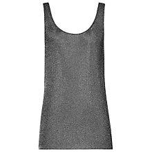 Buy Reiss Alexa Metallic Knit Tank Top, Gunmetal Online at johnlewis.com