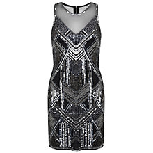 Buy Miss Selfridge Boudica Embellished Bodycon Dress, Black Online at johnlewis.com