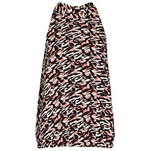 Buy Reiss Hart Printed Halter Neck Top, Ambrosia Online at johnlewis.com