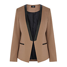 Buy Oasis Edge To Edge PU Blazer, Camel Online at johnlewis.com