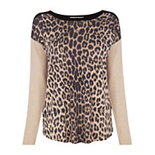 Buy Oasis Animal Colourblock Jumper, Multi Black Online at johnlewis.com