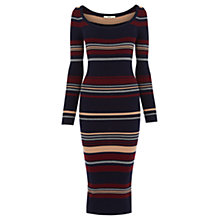 Buy Oasis Stripe Rib Tube Dress, Multi Online at johnlewis.com