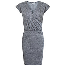 Buy Miss Selfridge Ballet Wrap Dress, Grey Online at johnlewis.com