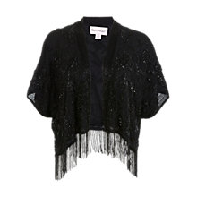 Buy Miss Selfridge Embellished Fringe Kimono Jacket, Black Online at johnlewis.com