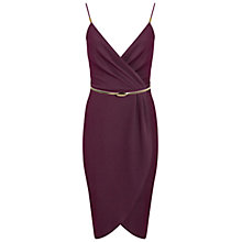Buy Miss Selfridge Wrap Pencil Dress, Burgundy Online at johnlewis.com