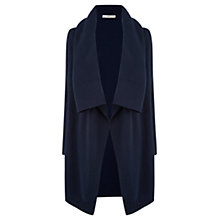 Buy Oasis Drape Tweed Cardigan, Navy Online at johnlewis.com