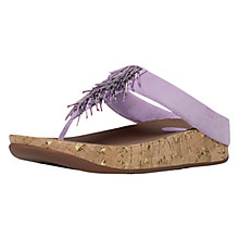 Buy FitFlop Cha Cha Leather Flip Flops, Dusty Lilac Online at johnlewis.com