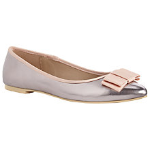 Buy John Lewis Pointed Toe Bow Detail Pumps, Silver Online at johnlewis.com
