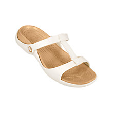 Buy Crocs Cleo III Sandals, Oyster/Gold Online at johnlewis.com