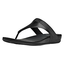 Buy FitFlop Banda Opul Leather Toe Post Sandals Online at johnlewis.com