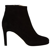 Buy Hobbs Juliet High Heeled Ankle Boots, Black Suede Online at johnlewis.com