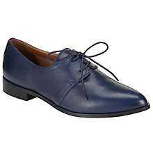 Buy Kin by John Lewis Frode Leather Lace Up Brogue Shoes, Navy Online at johnlewis.com