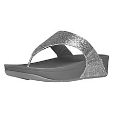 Buy FitFlop Lulu Superglitz Flip Flops, Silver Online at johnlewis.com