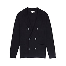 Buy Reiss Camelot Merino Double Breasted Cardigan, Navy Online at johnlewis.com