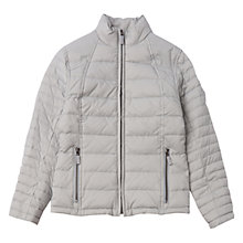 Buy Barbour Girls' Chock Quilted Coat, Silver Ice Online at johnlewis.com
