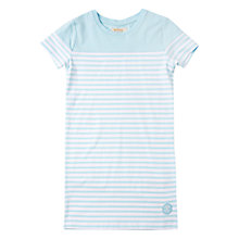 Buy Barbour Girls' Reinshaw T-Shirt Dress, Aqua Online at johnlewis.com