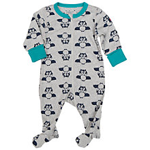 Buy Polarn O. Pyret Baby Bat Sleepsuit, Grey Online at johnlewis.com