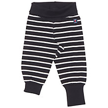 Buy Polarn O. Pyret Baby Stripe Trousers, Black Online at johnlewis.com