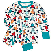Buy Polarn O. Pyret Children's Reindeer Pyjamas, Green Online at johnlewis.com