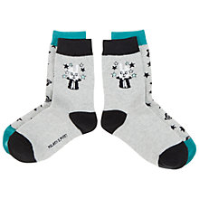 Buy Polarn O. Pyret Children's Hat Print Socks, Pack of 2, Grey Online at johnlewis.com