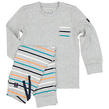 Buy Polarn O. Pyret Children's Stripe Pyjamas, Grey/Multi Online at johnlewis.com