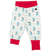 Buy Polarn O. Pyret Baby Bear Print Trousers, Blue/White Online at johnlewis.com