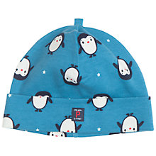 Buy Polarn O. Pyret Baby Penguin Hat, Blue Online at johnlewis.com